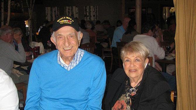 This May 2010 family photo provided by the Safferstein family shows Nathan Safferstein and his wife, Bernice Safferstein in New York. Nathan Safferstein, a native of Bridgeport, Conn., who was a counterintelligence agent on the Manhattan Project during World War II, died Tuesday night, March 5, 2013 at his home in the Bronx borough of New York after a long illness. He was 92. (AP Photo/Michael Safferstein)