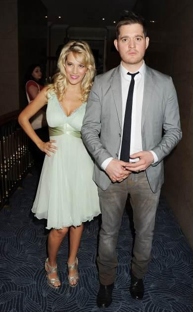 Michael Buble and Luisana Lopilato arrive at the Nordoff Robbins O2 Silver Clef Awards on June 29, 201 -- Getty Images