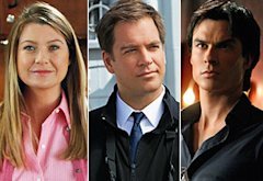 Ellen Pompeo, Michael Weatherly, Ian Somerhalder | Photo Credits: Vivian Zink/ABC; Sonja Flemming/CBS; Quantrell D. Colbert/The CW