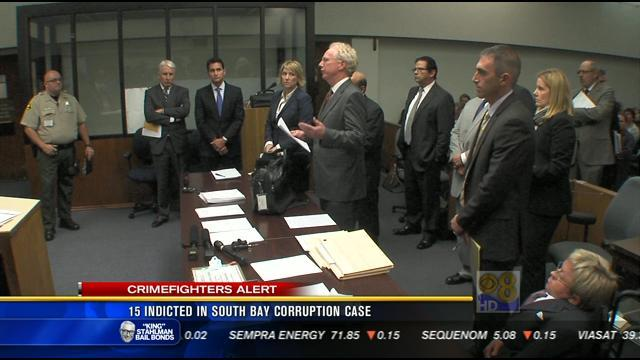 15 indicted in South Bay corruption case