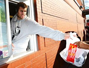 Kris Humphries Works McDonald's Drive-Thru Window in Brooklyn: Picture