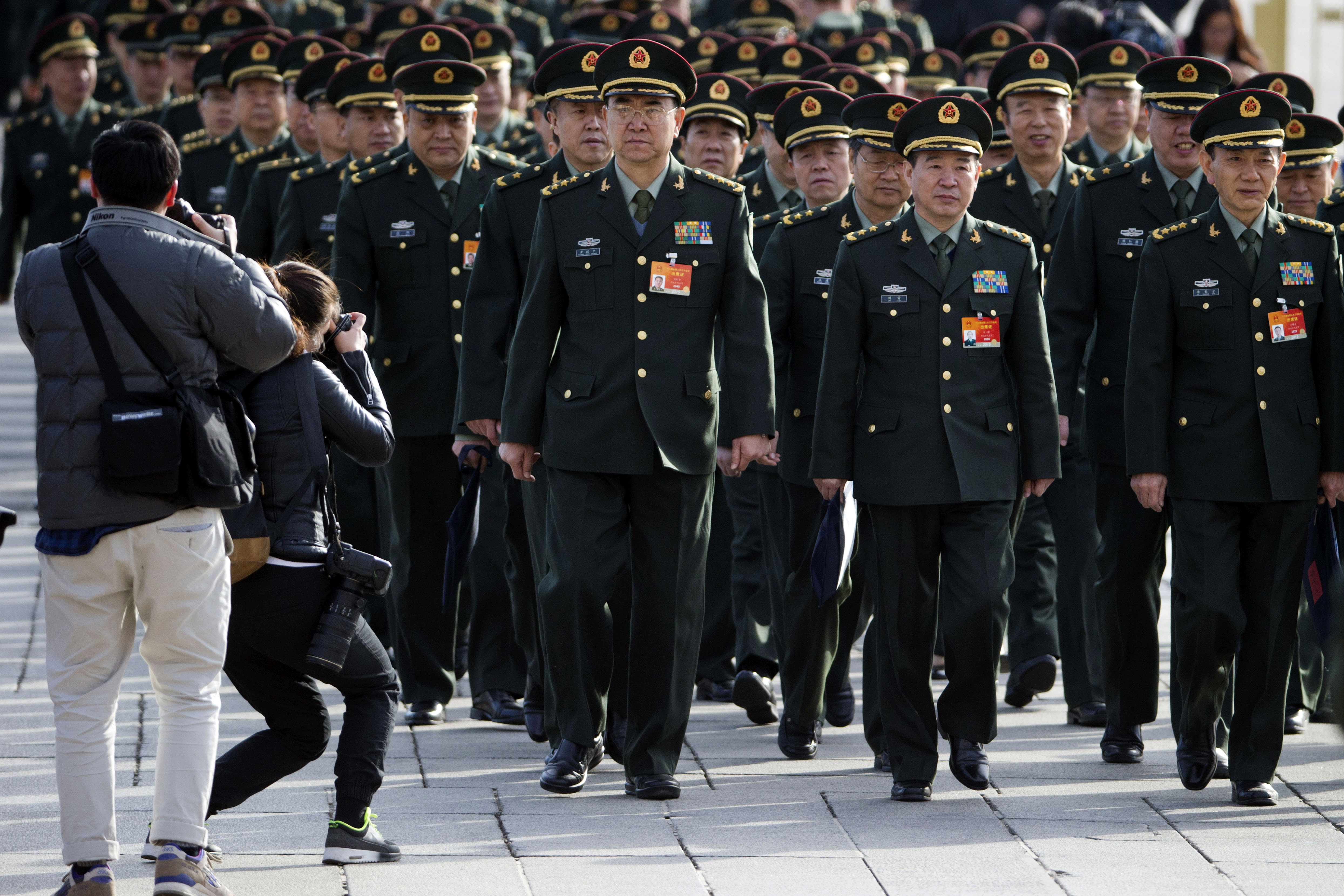 China plans to boost military budget by 10.1 percent in 2015