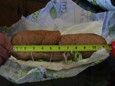 Subway Sued Over Short Footlong Sandwiches