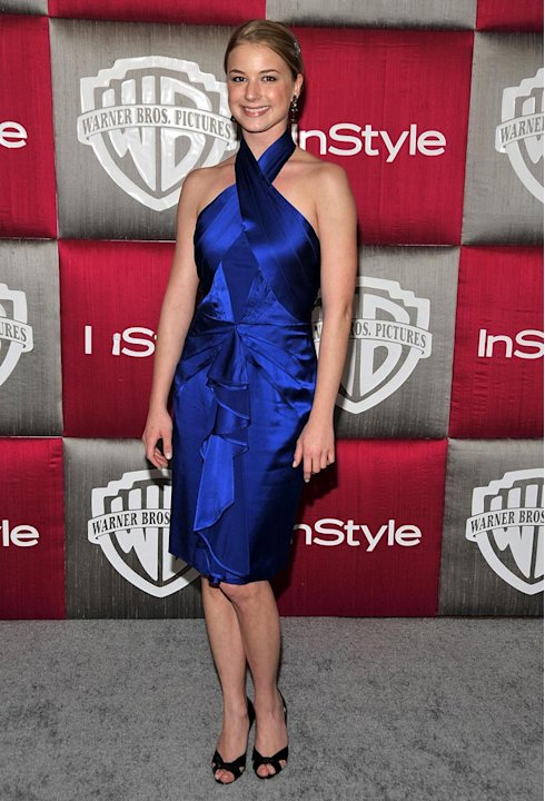 Emily VanCamp arrives at the InStyle/Warner Bros. after party for the 66th Annual Golden Globe Awards held at the Oasis Court at the Beverly Hilton Hotel on January 11, 2009 in Beverly Hills, Californ