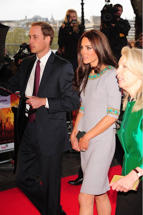 Prince William, Duke of Cambridge and Kate Middleton aka Catherine, Duchess of Cambridge UK Premiere of 'African Cats', held at the BFI - Arrivals London, England - 25.04.12 Mandatory Credit: