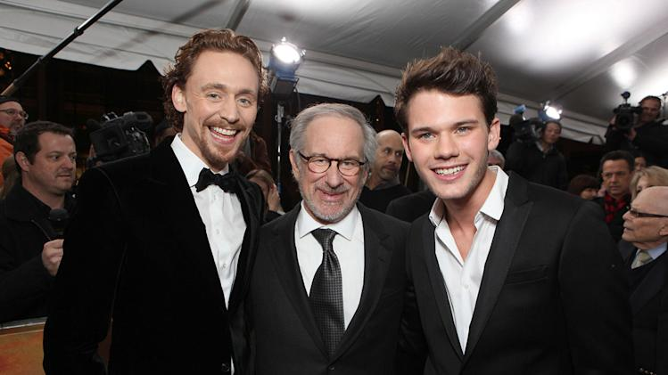 War Horse NYC Premiere 2011 Tom Hiddleston Steven Spielberg Jeremy Irvine