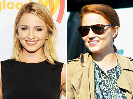 Dianna Agron Dyes Her Blonde Hair Red: Picture