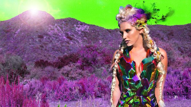 """This undated publicity photo provided by RCA Records shows the new CD cover of """"Warriors,"""" by Ke$ha. (AP Photo/RCA Records)"""