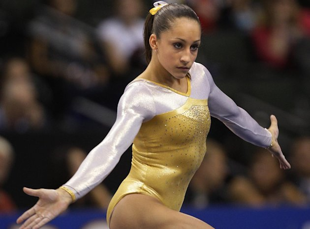 Jordyn Wieber competes during competition Thursday, Aug. 18, 2011, at the first day of the Senior Women's Competition in the 2011 VISA Gymnastics Championships at the XCel Energy Center in St. Pau