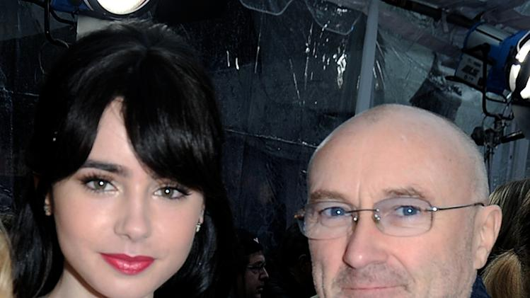 Phil Collins and Lily Collins