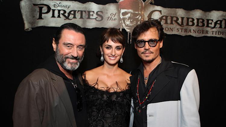 Pirates of the Caribbean On Stranger Tides LA Premiere 2011 Ian McShane Penelope Cruz Johnny Depp