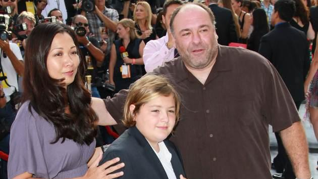 Deborah Lin, James Gandolfini and their son Michael attend the premiere of 'IRIS - A Journey Through the World of Cinema' By Cirque du Soleil on September 25, 2011 in Hollywood, Calif. -- Getty Premium