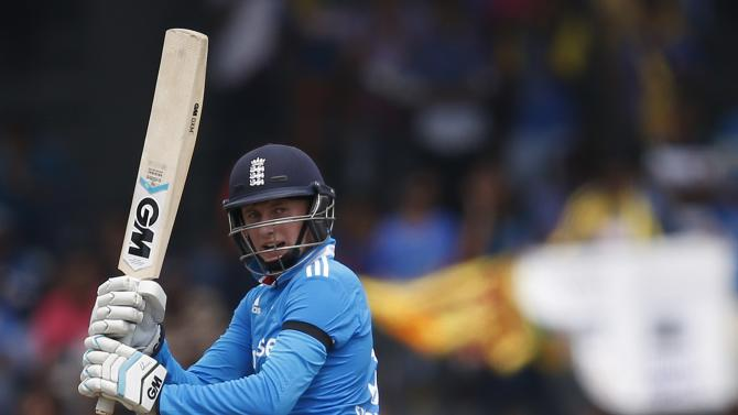 England's Root plays a shot their second ODI cricket match against Sri Lanka in Colombo