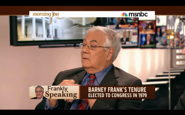 Barney Frank Really Wants to Replace John Kerry