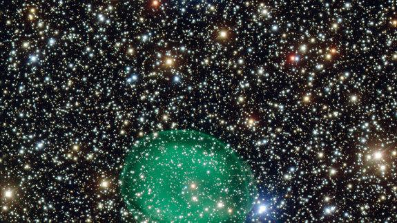 New Photo Reveals 'Ghostly' Green Nebula in Deep Space