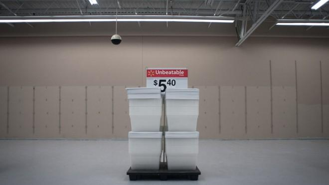 A Walmart clearance section in Florida.