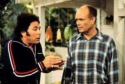 "When Bob (Don Stark, L) separates from Midge, he turns to Red (Kurtwood Smith, R) for advice on the ""I Love Cake"" episode of Fox's That 70s Show"