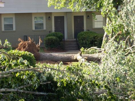 Cleanup Continues After Severe Thunderstorms North of Atlanta