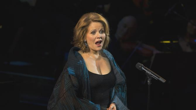 """Singer Renee Fleming performs on stage at """"An Evening of SeriousFun Celebrating the Legacy of Paul Newman"""" event in New York"""