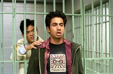 John Cho as Harold and Kal Penn as Kumar in New Line's Harold & Kumar Go to White Castle