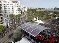 A general view of the venue at the 65th international film festival, in Cannes, southern France, Saturday, May 19, 2012. (AP Photo/Virginia Mayo)
