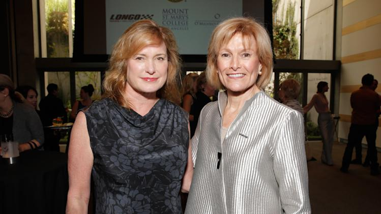 Lesa France Kennedy and Joan Wages seen at the 3rd Annual Women Making History Brunch presented by the National Women's History Museum and Glamour Magazine at the Skirball Cultural Center on Saturday, August 23, 2014, in Los Angeles, Calif. (Photo by Todd Williamson/Invision for National Women's History Museum/AP Images)