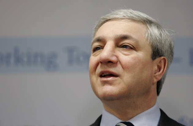 "FILE - In this March 7, 2007, file photo, Penn State President Graham Spanier speaks during a news conference at the Penn State Milton S. Hershey Medical Center in Hershey, Pa. Spanier and his lawyers attacked the university-backed report on the Jerry Sandusky sex abuse scandal on Wednesday, Aug. 22, 2012, in Philadelphia, calling it a ""blundering and indefensible indictment"" as they fired a pre-emptive strike while waiting to hear if he'll be charged in the case. (AP Photo/Carolyn Kaster, File)"