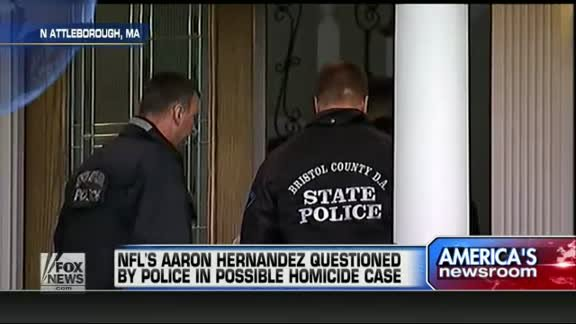 NFL's Aaron Hernandez questioned about possible homicide
