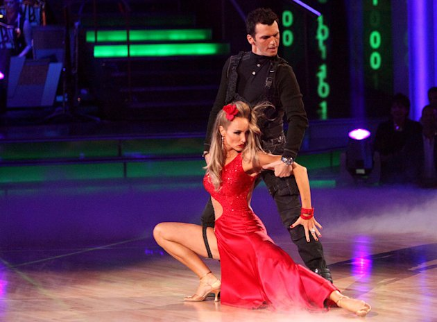 "Tony Dovolani and Chynna Phillips perform on ""Dancing With the Stars."""