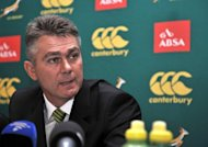 South African coach Heyneke Meyer, pictured here in January, is wary of a Wallabies resurgence in their Rugby Championship clash on Saturday, saying his team are underdogs as they bid to end a losing streak against Australia