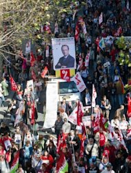 <p>Left-wing protesters participate in a demonstration against austerity measures and against the European budgetary treaty in Paris.</p>