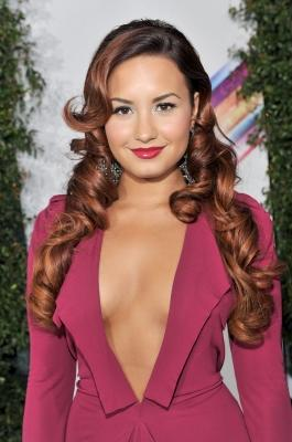 Demi Lovato arrives at the 12th Annual Latin GRAMMY Awards held at the Mandalay Bay Resort & Casino, Las Vegas, on November 10, 2011 -- Getty Premium