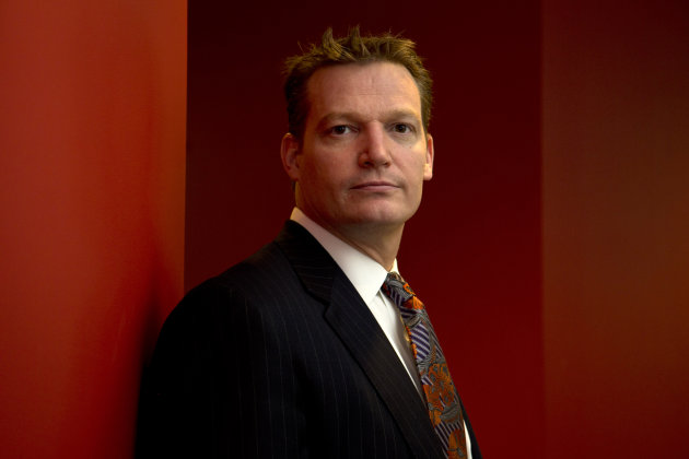 <p>               Mandiant founder and CEO Kevin Mandia is seen in his office in Alexandria, Va., Wednesday, Feb. 20, 2013. Mandiant, started in 2004 by Mandia, a private technology security firm described in extraordinary detail efforts it blamed on a Chinese military unit to hack into 141 businesses, mostly inside the U.S., and steal commercial secrets. China denies the claim.   (AP Photo/Jacquelyn Martin)