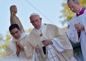 Pope Francis delivers Mass at the Basilica of the National…