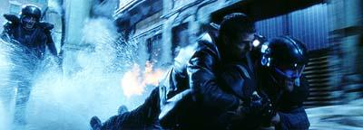 Anderton ( Tom Cruise ) using a precrime cop's jetpack to escape in 20th Century Fox's Minority Report