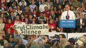Romney Supporters Drown Out Climate Change Heckler in Virginia