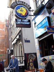 The Bulldog, the first coffee shop in Amsterdam, is pictured in 2011. A Dutch coalition government, likely to be formed under re-elected Liberal Prime Minister Mark Rutte, is planning to restrict cannabis sales to tourists and require residents to show identification when entering some 670 coffee shops around the country