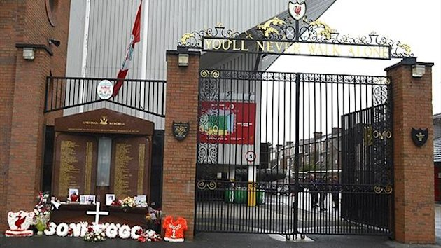 Flowers laid at a memorial to 96 fans killed at the Hillsborough disaster (Reuters)
