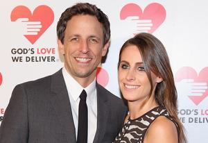 Seth Meyers, Alexi Ashe | Photo Credits: Neilson Barnard/Getty Images