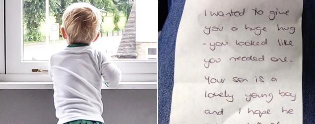Mom worried, then relieved, to read stranger's note