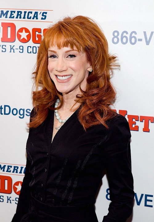 "Comedian Kathy Griffin attends the ""Kathy Griffin Salutes America's VetDogs"" at WaMu Theater at Madison Square Garden on February 20, 2009 in New York City. Kathy Griffin"