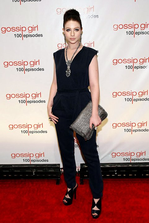 "Michelle Trachtenberg attends the ""Gossip Girl"" 100 episode celebration at Cipriani Wall Street on November 19, 2011 in New York City."