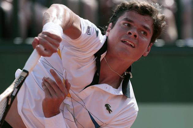 Canada's Milos Raonic Serves AFP/Getty Images