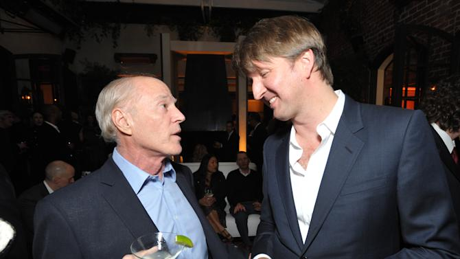 Frank Marshall, left, and Tom Hooper attend The Hollywood Reporter Nominees' Night at Spago on Monday, Feb. 4, 2013, in Beverly Hills, Calif. (Photo by John Shearer/Invision for The Hollywood Reporter/AP Images)