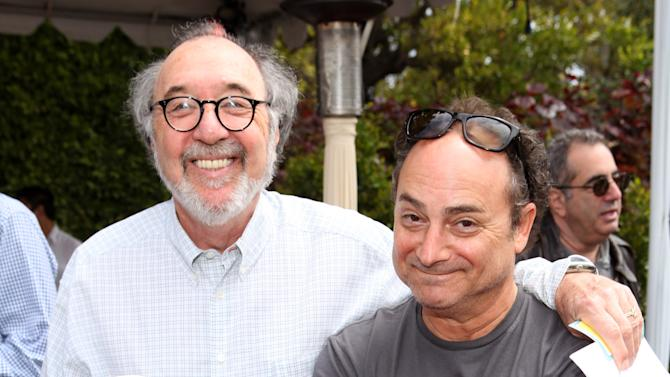COMMERCIAL IMAGE - In this photograph taken by AP Images for Geffen Playhouse, James L. Brooks, left, and Kevin Pollak are seen at Playing For Good Benefitting the Geffen Playhouse and Determined to Succeed on Saturday, May 12, 2012 in Santa Monica, Calif. (Casey Rodgers/AP Images for Geffen Playhouse)