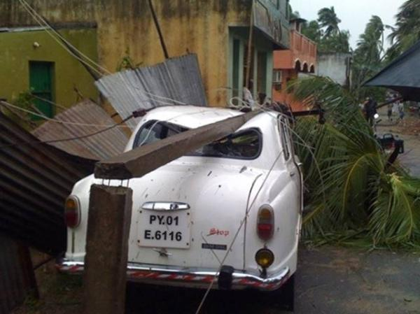 Cyclone Thane devastation in Puducherry