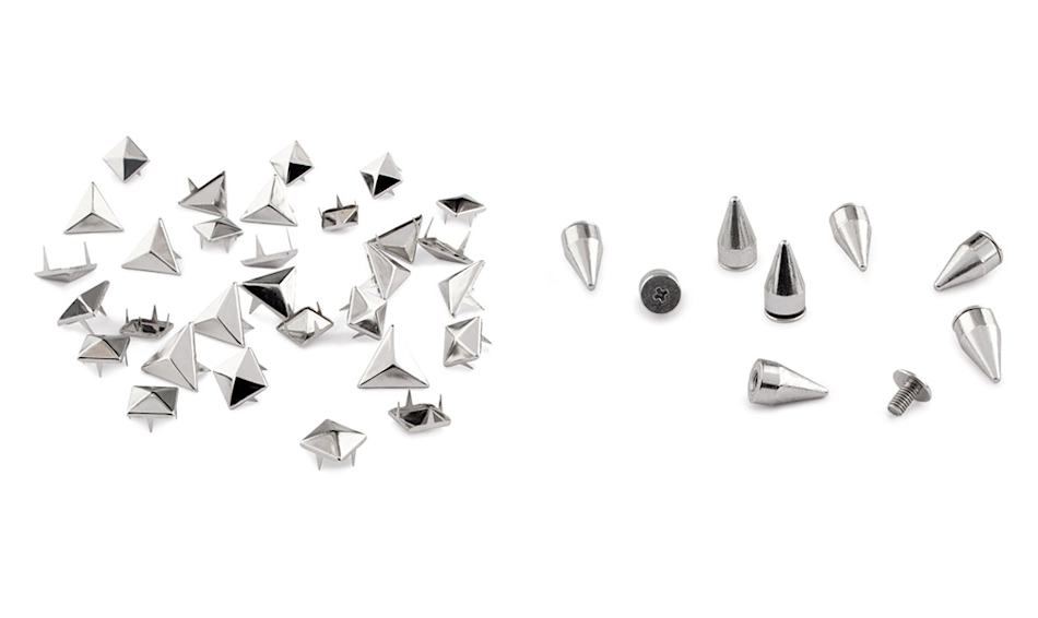 Decorative rivets, $5.95 (per set), hm.com