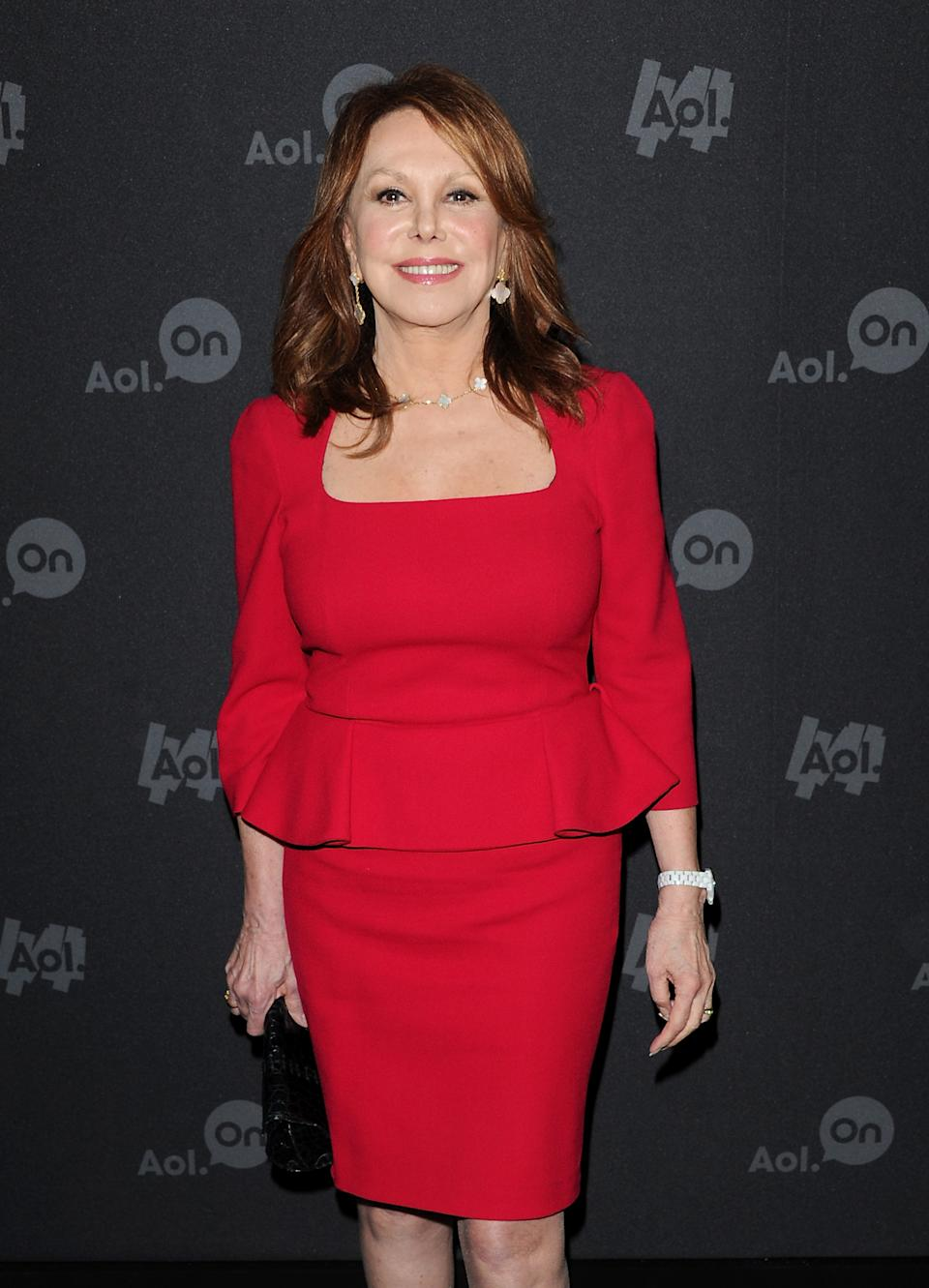"Actress Marlo Thomas attends AOL's web series ""NewFront"" at Moynihan Station on Tuesday April 30, 2013 in New York. (Photo by Evan Agostini/Invision/AP)"