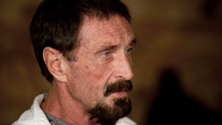 Guatemala releases McAfee, heads for flight to US