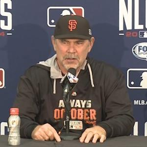 Raw Video: Giants Manager Bochy After Game 4 NLCS Win